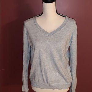 Gap V Neck Gray Sweater Large Petite